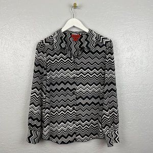 Missoni for Target Size L Black White Chevron